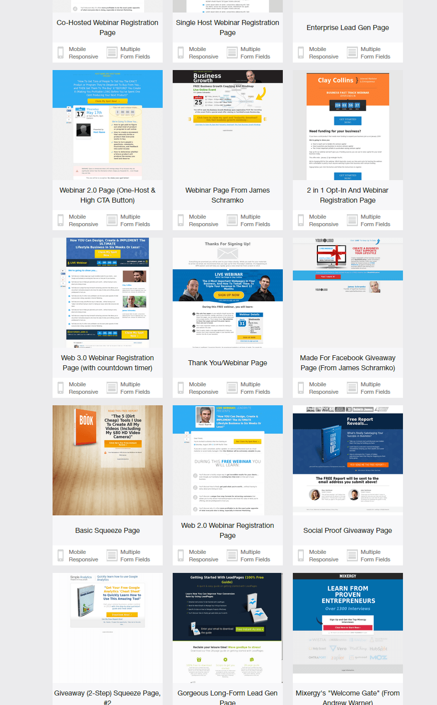 LeadPages Template Designs